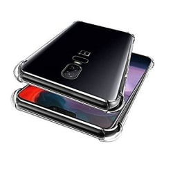 Plus Protective Soft Shockproof Hybrid Protection Back Cover with Packaging Kit for OnePlus 6(Transparent)
