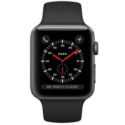 Apple Watch Series 3 GPS 42 mm Space Gray Aluminum Case with Black Sport Band