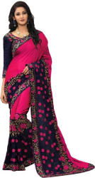 onlinefayda Embroidered Fashion Silk Saree (Pink)