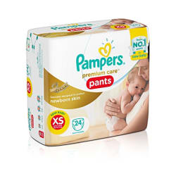 Pampers Extra Small Size Premium New Born Care Diaper Pants (24 Count)