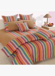 Linea Beige Stripes Bedsheet Set