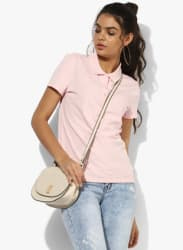 Pink Solid T Shirt