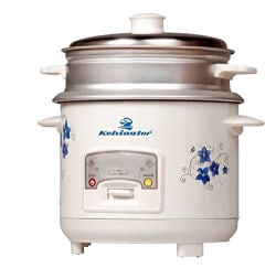 Kelvinator KRC-411 400-Watt 1-Litre Electric Rice Cooker with Steamer, White