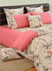 Shades of Paradise Peach Bedsheet Set