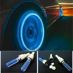 Universal Car/Bike Tyre LED Light for Valve Cap with Motion Sensor (Set of 2) - Magic Lights