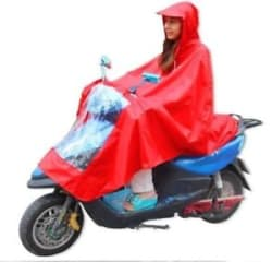 1 Person Full Protection waterproof bike poncho/Raincoat/ For Scooter