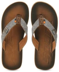 Sparx Men s Brown & White Slipper (SFG-37)