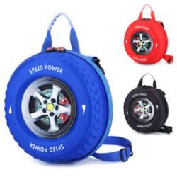 Unique Kids Backpack Tyre Shape Kids/Adult Fashion Backpack