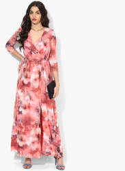 Multicoloured Coloured Printed Maxi Dress