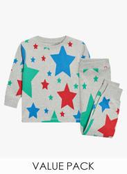 Multicoloured Star/Stripe Snuggle Fit Pyjamas Three Pack