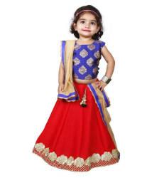 Najara Fashion Red Silk Comfortable Lehenga Choli Set