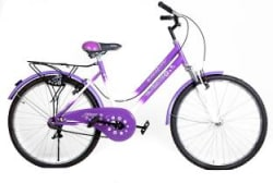 Atlas Trend F/S 26 T Girls Cycle/Womens Cycle Single Speed, White, Pink