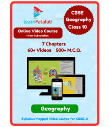 LearnFatafat Geography Class 10 CBSE Video Tutorials Online Study Material