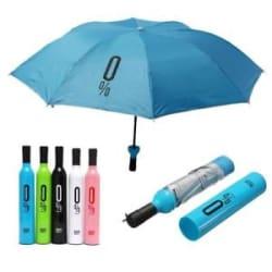 Pattern Design Umbrella Wine Bottles Folding Sun & Rain 0%Umbrella