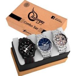 Shunya Attractive Set of 3 Watches Combo for Boys