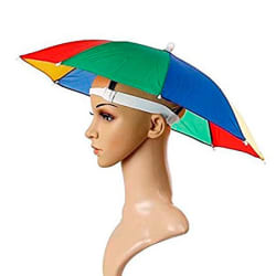 Peshkar Kids Hands Free Umbrella (Pack of 1)