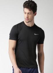 Black As M Nk Dry Miler Top Ss T-Shirt