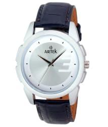 Artek White Leather Wrist Watch For Men