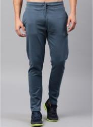 Blue Solid Slim Fit Track Pants