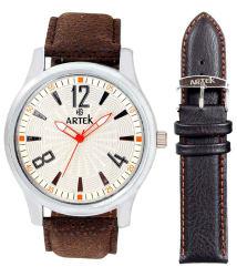 Artek Brown Leather Analog Watch