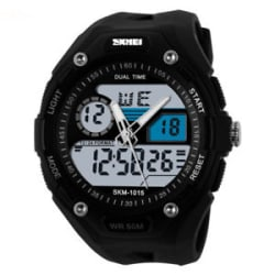 Skmei Analog & Digital Black Wrist Watch for Men and Boys