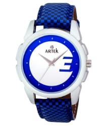 Artek Blue Leather Wrist Watch For Men