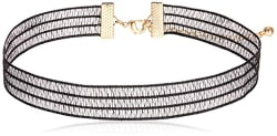 Forever 21 Choker Necklace for Women (00268257011_0026825701_Black_1)