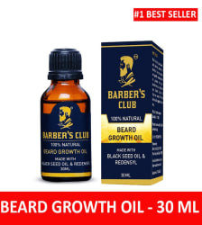 Barber s Club Beard Growth Oil with Black Seed Oil (100% Organic & Natural) -30ml