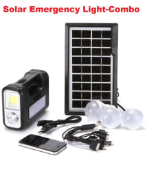 MG Gold 12W Solar Panel Emergency Lights - Combo Pack