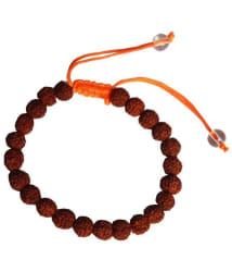 Lord Shiva 100% Original 5 Mukhi Natural Rudraksha Bracelet With Adjustment Nobe