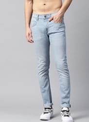 HRX by Hrithik Roshan Men Blue Skinny Fit Mid-Rise Clean Look Stretchable Jeans