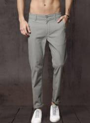 Men Grey Regular Fit Regular Trousers