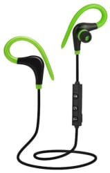 SPORTS BLUETOOTH WIRELESS HEADSET FOR RUNNING DRIVING WALKING SPORTING - Green