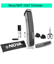 NOVA NHT-1047 Rechargeable Beard Trimmer ( Black )