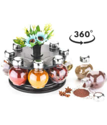 Cronus 360 degree Revolving Spice Rack with 8 Jars