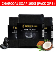 Barber s Club Hand Made Organic Charcoal Soap - Pack of 3 -100 GMS Each