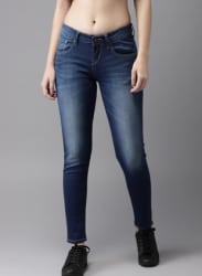 Moda Rapido Women Blue Skinny Fit Mid-Rise Clean Look Stretchable Jeans