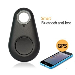 flip finz Wireless Bluetooth 4.0 Anti-lost Anti-Theft Alarm Device Tracker With GPS Locator compatible with Android & iOS Smartphones-Black