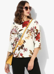 Cream Printed Blouse