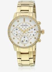 W1022l2 Golden/White Multifunction Analog Watch