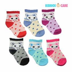 KiddosCare Baby Boy or Girl Soft Touch Cotton Rich Socks (Multicolor, Pack of 6)
