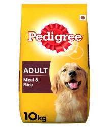 Pedigree Dry Dog Food, Meat & Rice for Adult Dogs, 10 kg