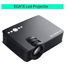 EGATE i9 LED HD Portable Movie Projector (Black) HD 1920 x 1080 Support - 120-inch Display (Watch Movie through pendrive,memory card and setup Box for TV)