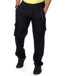 JTInternational Black Cotton Trackpants Single