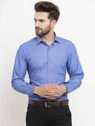 John Players Blue Regular Fit Formal Shirt