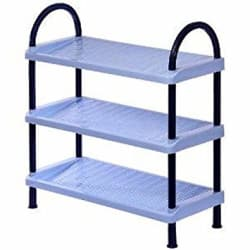 Joyo Polypropylene Shoe Rack, 3 Layers, Blue (JSHORCK3BGBLUE)