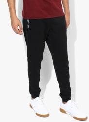 Black Solid Track Pants