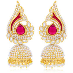 Sukkhi Gold Plated Gold Alloy Jhumkis for Women