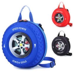 Unique Kids Backpack Tyre Shape Adult Bag Fashion Backpack