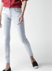 Blue Skinny Fit Mid-Rise Clean Look Stretchable Jeans